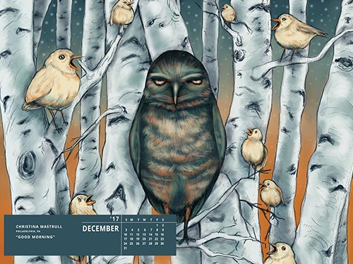 Download the December Desktop Wallpaper From Our 2017 Talent Calendar image